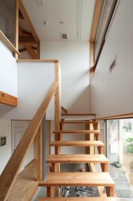 船橋・猫と暮らす家 (階段と吹き抜け)