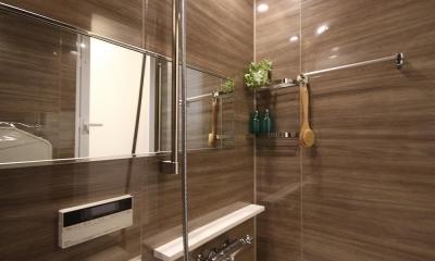 安らぎに満ちた空間に住まう (浴室)