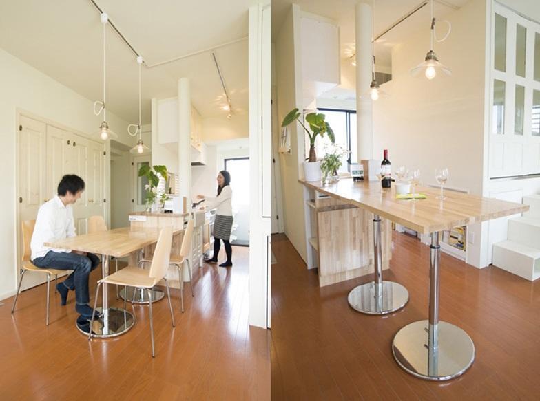 UEHARA APARTMENTの写真 高さが調節できるダイニングテーブル
