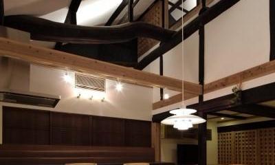 食事室|今井町の家ー伝統的町家を新しく開発した耐震フレームで現代のライフスタイルにあったリノベーションを実現ー