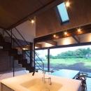 YZH 大屋根と高気密の写真 キッチンから南方を