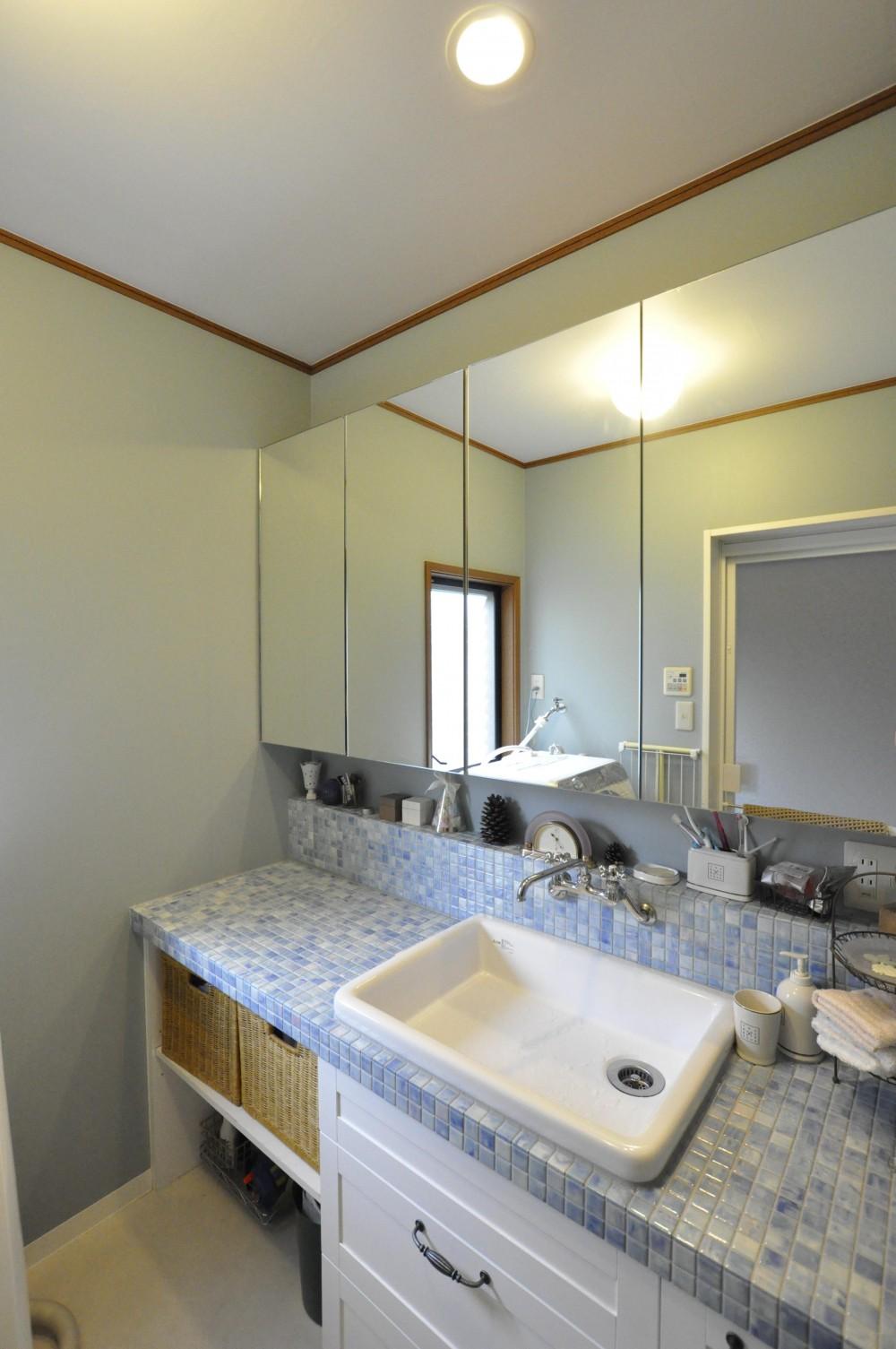 【2×4】クローゼットルームのあるエントランス (洗面台)