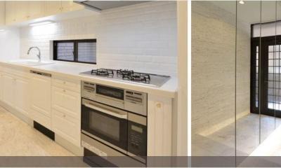 キッチン|真っ白なラグジュアリーリノベーション