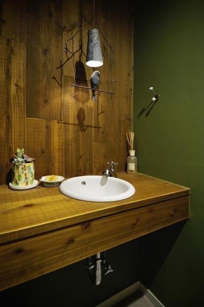 トイレ_手洗い (実家を完全分離の二世帯住宅に。デザインにもこだわった理想のすまい。)