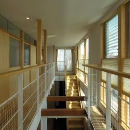 岐阜の家 (光が差し込む廊下)