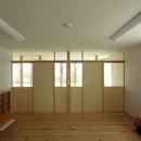 岐阜の家の写真 ステンドグラスを使った2階の間仕切り