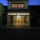 犬山の家の写真 格子戸のある外観-ライトアップ
