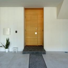 犬山の家 (モダンな雰囲気の玄関アプローチ)