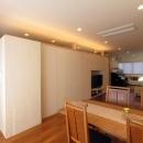 犬山の家の写真 ワンルームで繋がるキッチン・リビングダイニング