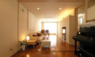犬山の家 (2階リビングダイニング)