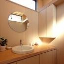 犬山の家の写真 明るい洗面室
