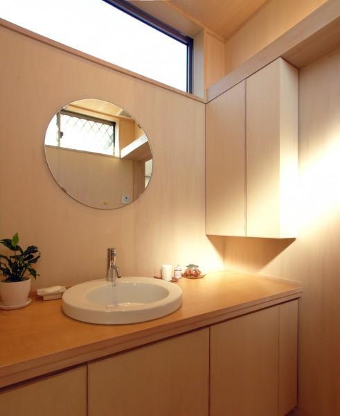 バス/トイレ事例:明るい洗面室(犬山の家)