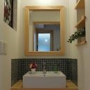 house-NMYの写真 玄関ホールから利用する洗面コーナー