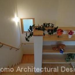 ゆっくり昇降できる勾配のゆるい階段 (house-NMY)
