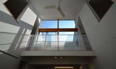 名古屋M邸-高窓のある吹抜け空間を中心としたかもめ食堂-