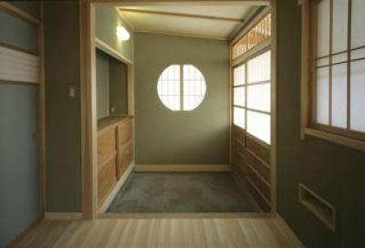 明るい玄関土間 (上諏訪の家)