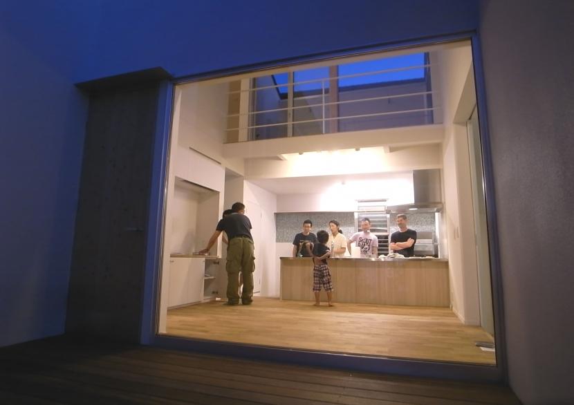 名古屋M邸-高窓のある吹抜け空間を中心としたかもめ食堂-の部屋 名古屋M邸07