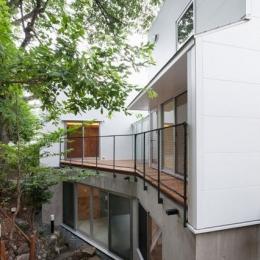 三鷹井の頭戸建てリノベーションPJ (ウッドデッキが広がる外観)