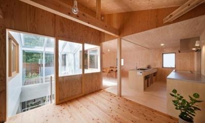 三鷹井の頭戸建てリノベーションPJ (2階にあるキッチン)