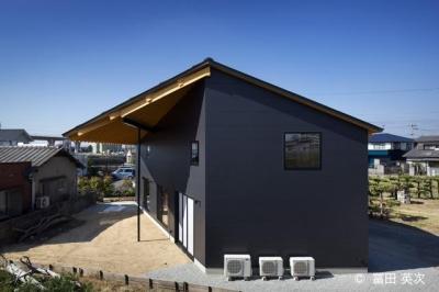 屋根が個性的な外観 (高松の住宅2)