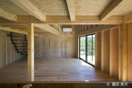 高松の住宅2 (キッチンからリビングの眺め)