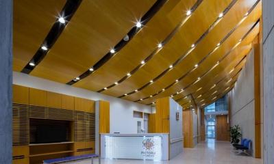 エントランスホール・待合スペース|光が射し込む木のクリニック -PICTORUいずも画像診断室-