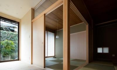 光と風を取込む階段を中心としたリノベーション -HO邸リノベーション- (リビング内のサンルームと和室)