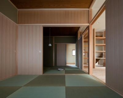 光と風を取込む階段を中心としたリノベーション -HO邸リノベーション- (和室)