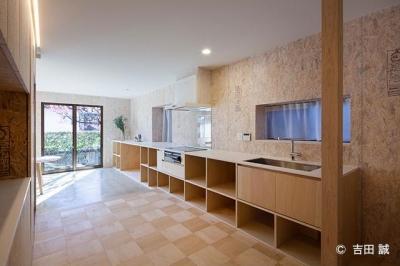 収納たっぷりのキッチン (青葉区しらとり台戸建てリノベーションPJ)