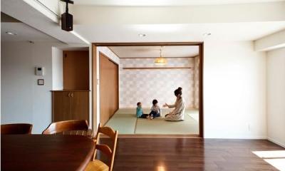 リビングと一体感のある和室 愛着のある家具・愛着のある家