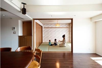 愛着のある家具・愛着のある家 (リビングと一体感のある和室)