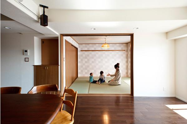 愛着のある家具・愛着のある家の部屋 リビングと一体感のある和室