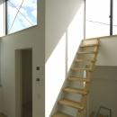 南足柄S邸-南面採光と北側眺望を得るためのスキップフロア-