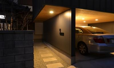 南足柄S邸-南面採光と北側眺望を得るためのスキップフロア- (南足柄S邸08)