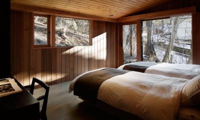 南吉ヶ沢山荘 (寝室1)