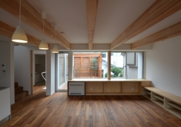 徳丸Y邸-高密度でもゆとりある庭を配した二世帯住宅- (徳丸Y邸01)