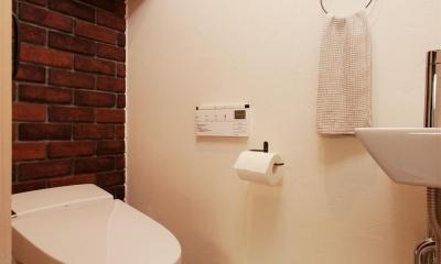 トイレ|間取りを変えず、自然素材でイメージ一新