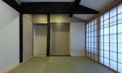 和室|今井町の家ー伝統的町家を新しく開発した耐震フレームで現代のライフスタイルにあったリノベーションを実現ー