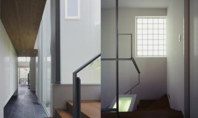ミッドセンチュリーテイスト 成城にてゆったりと住まう (廊下・階段)