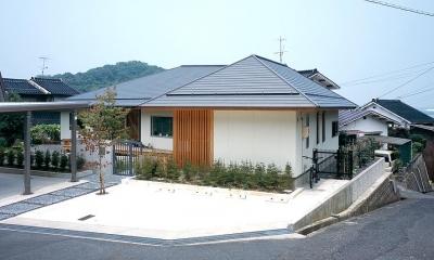 不整形の宅地に建つ住宅|鳥取市 O様邸