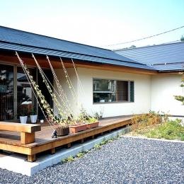 鳥取市 O様邸 (リビングと一体感のあるウッドデッキテラス)
