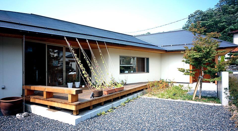 鳥取市 O様邸の部屋 リビングと一体感のあるウッドデッキテラス