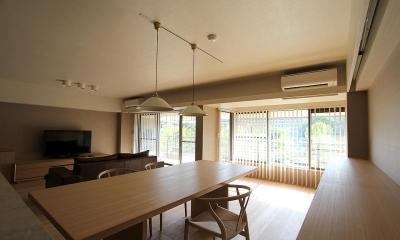 京都市Y様邸 (部屋の壁を取り払ったリビングダイニング)
