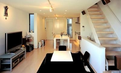 大阪市阿倍野区 S様邸 (オープン型階段のあるリビング)