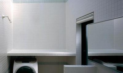 貝塚市 T様邸 (天窓のあるタイル張りの洗面室)