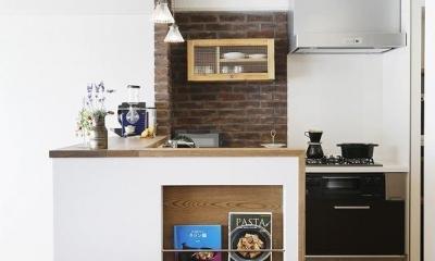 夢だった築古マンションのリノベを実現 (キッチン)