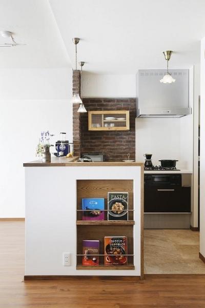 キッチン (夢だった築古マンションのリノベを実現)