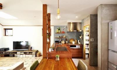壁はいらない… 開放感とゆとりをつくる技 (キッチン)