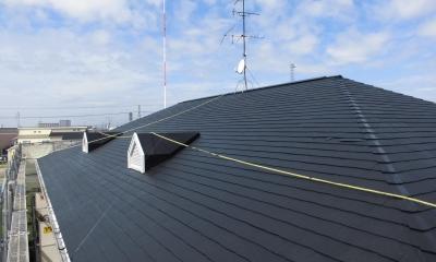 マンション 外壁塗装工事 (屋根)