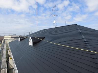 屋根 (マンション 外壁塗装工事)